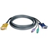 Tripp Lite 15ft PS/2 Cable Kit For Kvm Switch 3-in-1 B020 / B022 Series Kvms P774-015 00037332120618