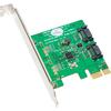 Syba Multimedia Sata Iii 2 Internal 6Gbps Ports Pci-e Controller Card SY-PEX40039 00810154017782