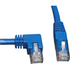 Tripp Lite 3ft Cat6 Gigabit Molded Patch Cable RJ45 Left Angle To Straight M/m Blue 3