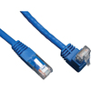 Tripp Lite 3ft Cat6 Gigabit Molded Patch Cable RJ45 Right Angle Up To Straight M/m Blue 3