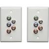 Tripp Lite Cat5/Cat6 Video Extender Wallplate Kit Component Video Stereo Audio B136-101-WP-1 00037332162878