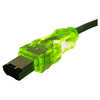 Qvs Firewire/i.link 6Pin To 6Pin Translucent Cable With Leds CC1394-15GNL 00037229229851
