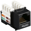 Black Box CAT5e Value Line Keystone Jack, Black 10-Pack CAT5EJ-BK-10PAK 00757120352259