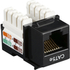 Black Box CAT5e Value Line Keystone Jack, Black 5-Pack CAT5EJ-BK-5PAK 00822088007838