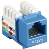 Black Box CAT5e Value Line Keystone Jack, Blue, 5-Pack CAT5EJ-BL-5PAK 00822088007845