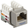 Black Box CAT5e Value Line Keystone Jack, Gray, 5-Pack CAT5EJ-GY-5PAK 00822088007883