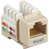 Black Box CAT5e Value Line Keystone Jack, Ivory, 10-Pack CAT5EJ-IV-10PAK 00757120352259