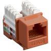 Black Box CAT5e Value Line Keystone Jack, Orange, 5-Pack CAT5EJ-OR-5PAK 00065030811927