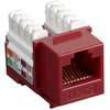 Black Box CAT5e Value Line Keystone Jack, Red, 5-Pack CAT5EJ-RD-5PAK 00757120352259