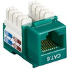 Black Box CAT6 Value Line Keystone Jack, Green, 5-Pack CAT6J-GN-5PAK 00757120352259