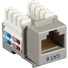 Black Box CAT6 Value Line Keystone Jack, Gray, 10-Pack CAT6J-GY-10PAK 00757120352259