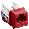 Black Box CAT6 Value Line Keystone Jack, Red, 5-Pack CAT6J-RD-5PAK 00757120352259