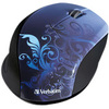 Verbatim Wireless Notebook Optical Mouse, Design Series - Blue 97785 00023942977858