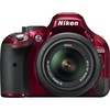 Nikon D5200 24.1 Megapixel Digital Slr Camera With Lens - 18 Mm - 55 Mm - Red 1507 00018208015078