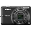 Nikon Coolpix S6500 16.2 Megapixel Compact Camera - Silver 26370 00018208263707
