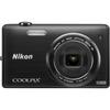 Nikon Coolpix S5200 16 Megapixel Compact Camera - Black 26374 00018208263745
