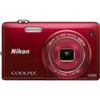 Nikon Coolpix S5200 16 Megapixel Compact Camera - Red 26375 00018208263752