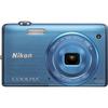 Nikon Coolpix S5200 16 Megapixel Compact Camera - Blue 26376 00018208263769