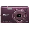 Nikon Coolpix S5200 16 Megapixel Compact Camera - Plum 26377 00018208263776