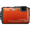 Nikon Coolpix AW110 16 Megapixel Compact Camera - Orange 26412 00018208264124