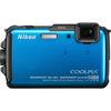 Nikon Coolpix AW110 16 Megapixel Compact Camera - Blue 26411 00018208264117