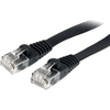 Startech.com 3 Ft Black Flat Molded RJ45 Utp Cat 5e Patch Cable - 3ft Patch Cord FLAT45BK3 00065030808415