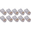 4XEM 100 Pack Cat6 RJ45 Modular Ethernet Plugs For Stranded Or Solid CAT6 Cable 4X100PKC6 00873791007424