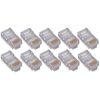4XEM 50 Pack Cat5E RJ45 Modular Ethernet Plugs For Stranded Or Solid CAT5E Cable 4X50PKC5E 00873791007448