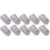 4XEM 50 Pack Cat5E RJ45 Modular Ethernet Plugs For Stranded Or Solid CAT5E Cable 4X50PKC5E 00873791007448