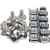 4XEM 50 Pkg M6 Rack Mounting Screws And Cage Nuts For Server Racks/cabinets 4XM6CAGENUTS 00873791007035