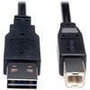 Tripp Lite 3ft Usb 2.0 High Speed Cable Reverisble A To B M/m UR022-003 00037332179432