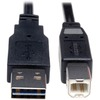 Tripp Lite 10ft Usb 2.0 High Speed Cable Reverisble A To B M/m UR022-010 00037332179456