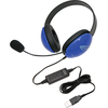Califone Usb Stereo Headphones Listening First Series Blue 2800BL-USB 00610356832189