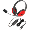 Califone Red Stereo Headphone W/ Mic, Usb Connector 2800RD-USB 00610356832448