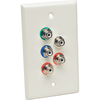 Tripp Lite Component Video & Stereo Audio Over Cat5/Cat6 Extender Receiver Wallplate B136-100-WP-1 00037332162892