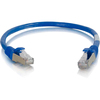 C2G 6in Cat6a Snagless Shielded (stp) Network Patch Cable - Blue 00973 00757120009733