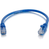 C2G 6in Cat6a Snagless Unshielded (utp) Network Patch Cable - Blue 00974 00757120009740