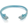 C2G 6in Cat6a Snagless Unshielded (utp) Network Patch Cable - Aqua 00978 00757120009788