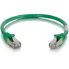 C2G 6in Cat6 Snagless Shielded (stp) Network Patch Cable - Green 00982 00757120009825