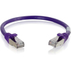 C2G 6in Cat6 Snagless Shielded (stp) Network Patch Cable - Purple 00986 00757120009863