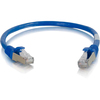 C2G 6in Cat6 Snagless Shielded (stp) Network Patch Cable - Blue 00980 00757120009801