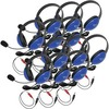 Califone 12-Pack Listening First Stereo Headsets - Red - To Go Plug 2800BLAV-12L 00610356832905