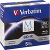 Verbatim M-disc Bd-r 25GB 4X With Branded Surface - 5pk Jewel Case Box 98900 00023942989004