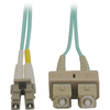 Tripp Lite 15M 10Gb Duplex Multimode 50/125 OM3 Lszh Fiber Optic Patch Cable Lc/sc Aqua 50