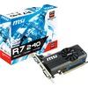 Msi R7 240 2GD3 Lp Radeon R7 240 Graphic Card - 2 Gb DDR3 Sdram - Low-profile R72402364P 00824142163467