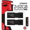 Kingston Datatraveler 100 G3 Usb Flash Drive DT100G3/32GB-2P 00740617302189