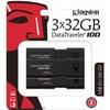 Kingston Datatraveler 100 G3 Usb Flash Drive DT100G3/32GB-3P 00740617302196