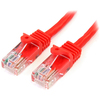 Startech.com 50 Ft Red Snagless Cat5e Utp Patch Cable 45PATCH50RD 00065030774055