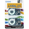 Casio Label Printer Tape XR12WE2S 00079767120320