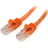 Startech.com Snagless Cat5e Utp Patch Cable - RJ-45 (m) - RJ-45 (m) - 0.9 M - Utp - ( Cat 5e ) - Orange 45PATCH3OR 00065030792318